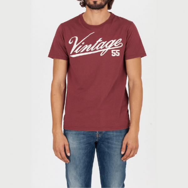 t-shirt logo vintage 55 burgundy