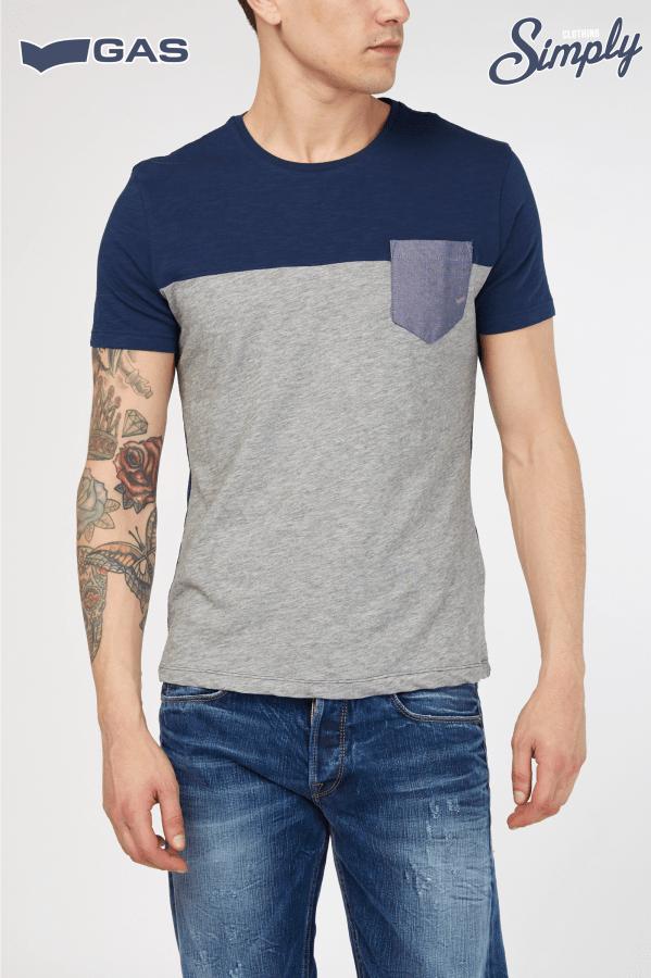t-shirt mezza manica con taschino