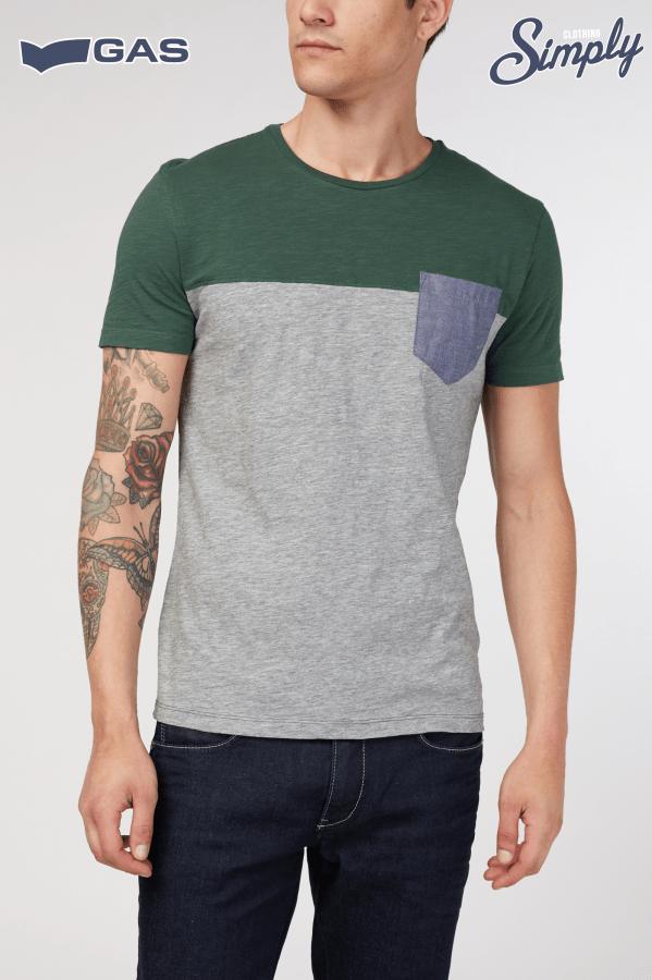 t-shirt mezza manica con taschino 4